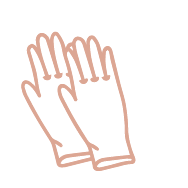3. Wear disposable gloves